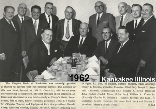 Image For Peoples Bank of Kankakee County - 1962 thru Today